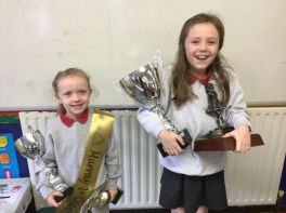 Russell dancers - more trophies