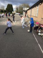 Primary 5 Gaelic coaching session