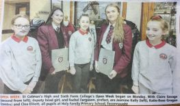 Holy Family girls in the paper