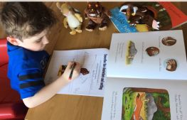 Primary 2 are reading 'The Gruffalo'