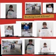 Primary 1 working hard at home!